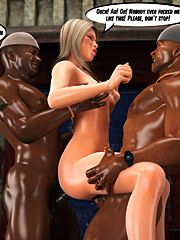 White slut in da hood - Nobody ever fucked me like this by interracial sex 3d