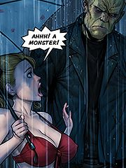 The monster runs out into the streets - Monster Squad: Frankenstein by welcomix (tufos)
